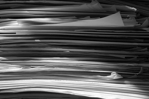Stack of papers - flickr - ant.photos