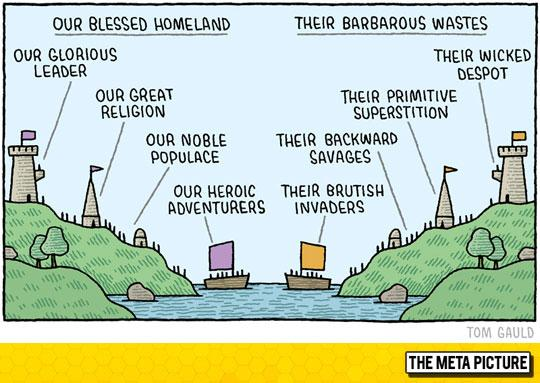 Out Blessed Homeland vs Their Barbarous Wasteland