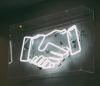 Neon light hand shake